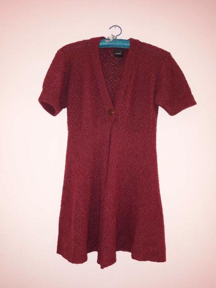 Saquito Sweater De Lana Color Uva Talle 1