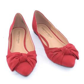 Christian Siriano Flats Rojos 24mex Mrsp$1100