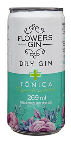 Imagem 1 de 1 de Gin Tônica Flowers Limão Lata 270ml