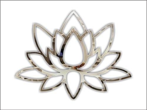 Espelho Decorativo Flor De Lótus 50 X 36 Cm - Tamanho Grande