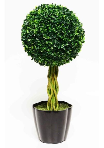 Planta Decorativa Artificial Esfera Con Maceta Grande