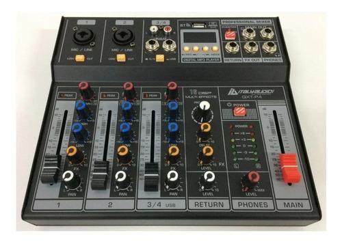 Consola Italy Audio Qxt-p4 ,4ch, Interfaz Usb, Efectos.