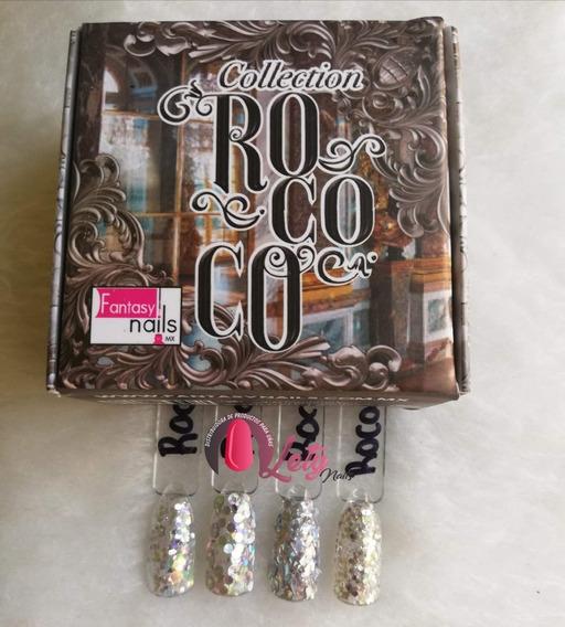 Fantasy Nails Rococo Coleccion Acrilicos Plateado Dorado
