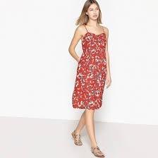 Vestido Midi Fucsia Con Flores Marca Express Talla Chica