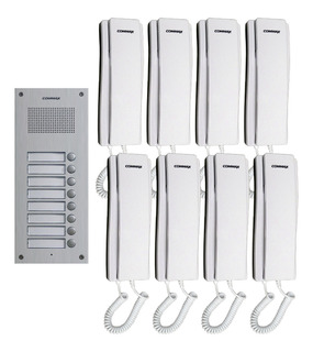 Commax Portero De Audio Para Edificio Con 8 Interfonos