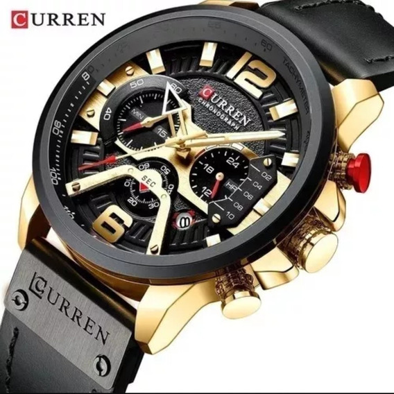 Relógio Curren Masculino 8329 - Couro Original E Nota Fiscal