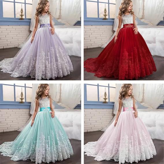 Vestido Princesa Para Niños Faldas Elegante