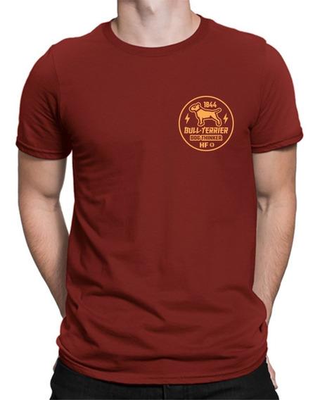 Remera Bull Terrier Hf ® Bordo 100% Serigrafia