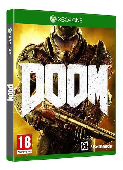 Doom Xbox One Mídia Física Novo Lacrado