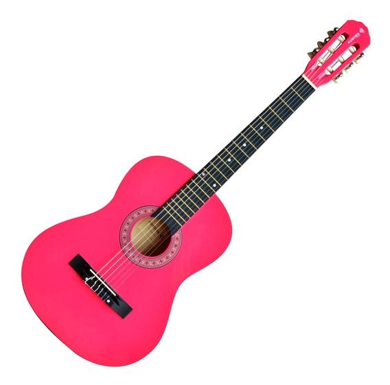 Violão Acústico Clássico 6 Cordas Pink Aubvo616b Auburn
