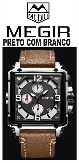 Relógio Masculino Megir Modelo Ml2061g Executivo Social