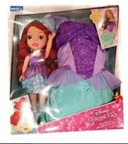 Muñeca Disney Princess Ariel Doll Girl Dress Gift Set