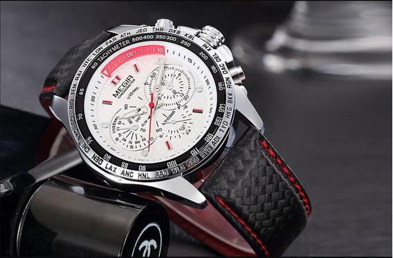 Relógios Megir 1010 Luminosos Quartzo Esporte Clássico