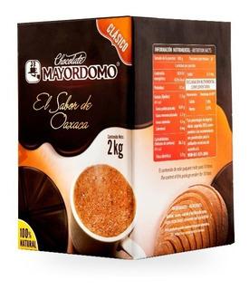 5 Cajas Chocolate Mayordomo Clásico 2kg C/u, Total 10 Kilos