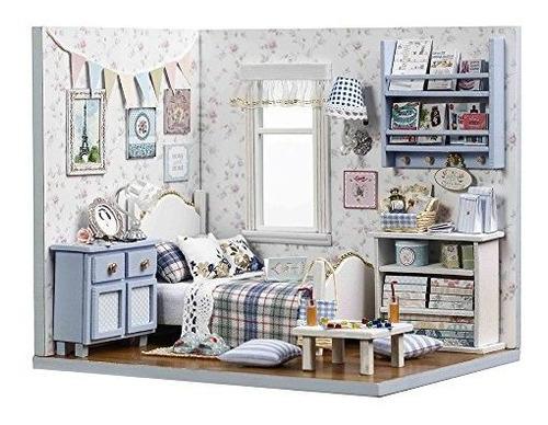 Kit De Muebles De Madera Para Casa De Muñecas En Miniatura,