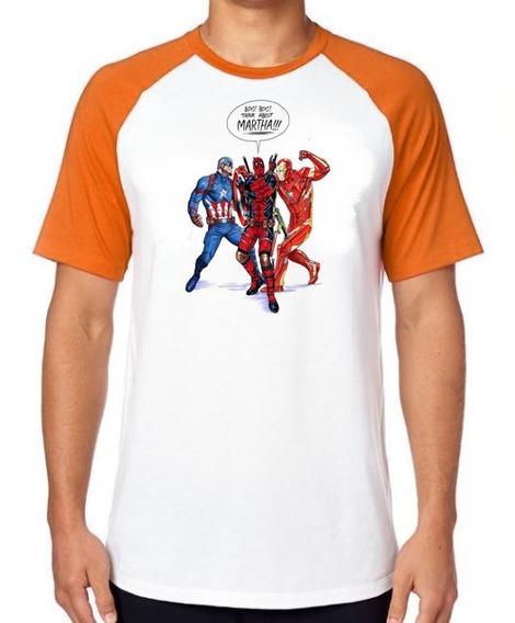 Camiseta Luxo Boys About Martha Homem Ferro Capitão America