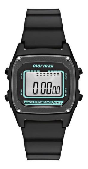 Relógio Infantil Masculino Preto Mormaii Digital Quadrado