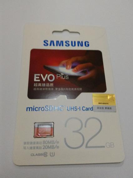 Micro Sd Sdhc Sam Evo 32gb Clas10 80mb/s Pronta Entrega