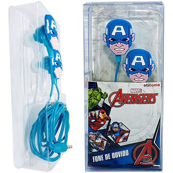 1 Fone Ouvido Vingadores Avengers Capitão America