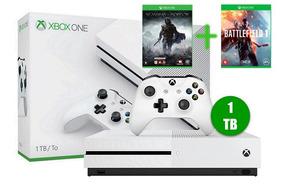 Xbox One S 1 Tb Branco Novo + 2 Jogos
