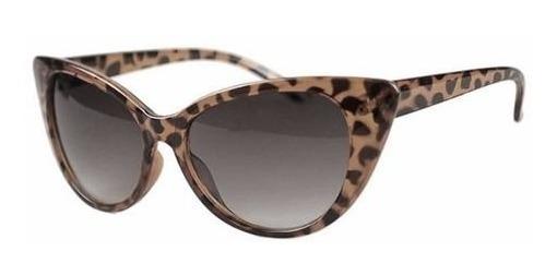 Óculos Escuro Sol Vintage Estilo Cateye Gatinha Leopardo