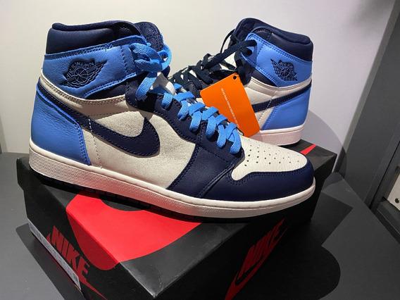 Tênis Nike Air Jordan 1 High Obsidian 44br Original