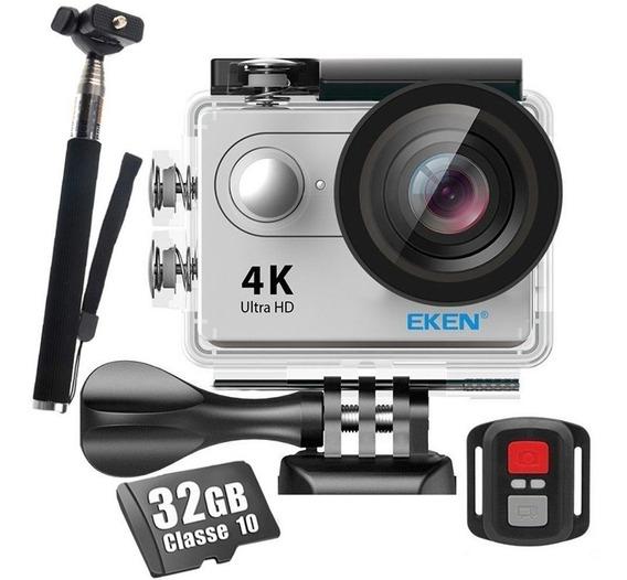 Câmera Eken H9r 4k Wifi Streaming + Controle + Bastão + 32gb