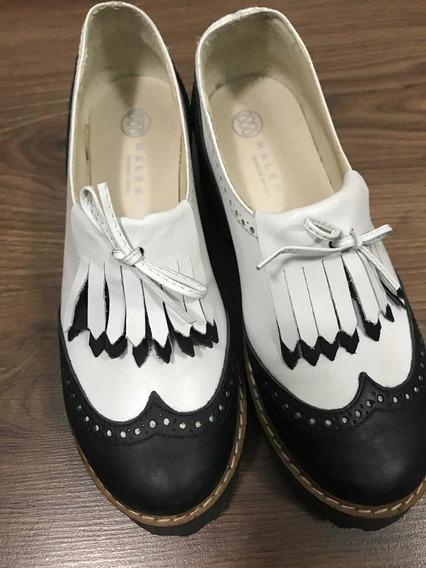 Zapatos De Fama Simil Cuero 36