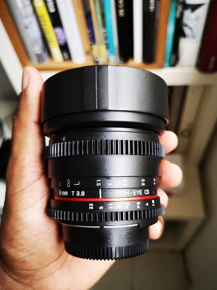 Lente Rokinon 8mm Tcine 3.8 Nikon