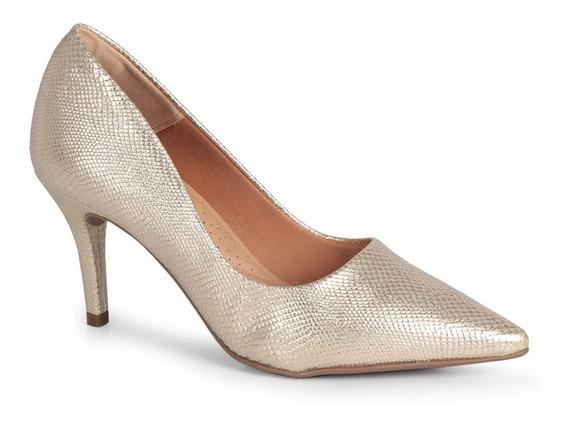 Sapato Scarpin Feminino Lara Animal Skin