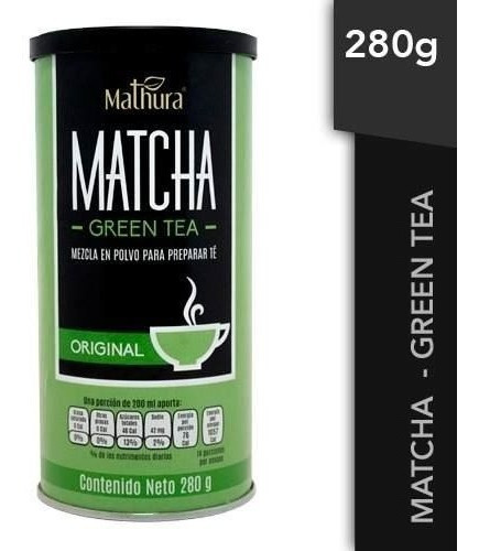 Te Matcha Green Tea 1 Lata De 280gr Marca Mathura