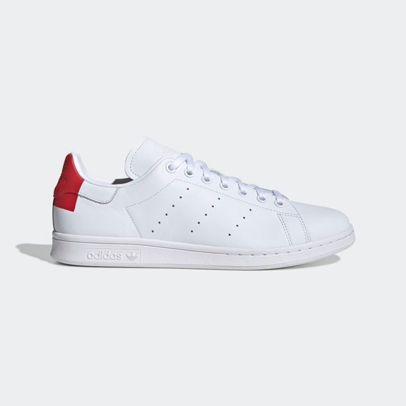 Tenis adidas Blanco Con Rojo Stan Smith Originales