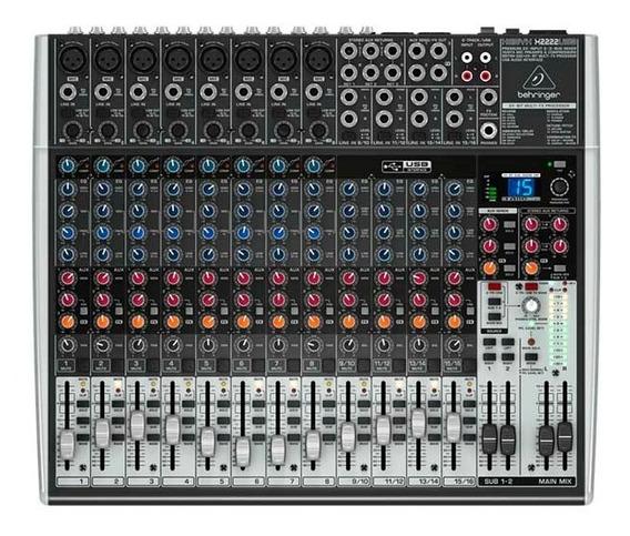 Mesa De Som Behringer Mixer Xenyx Bivolt X2222 Usb