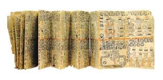 Codice Madrid, Papel Amate 100% A Mano. Fragmento 12 Laminas