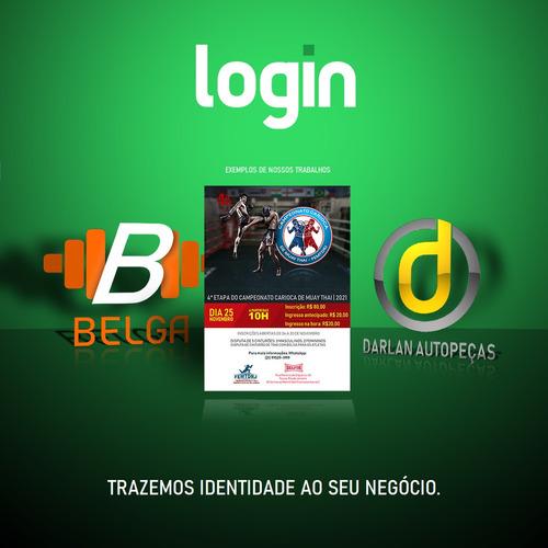 Imagem 1 de 5 de Design De Logotipos, Panfletos, Convites E Cartão De Visita