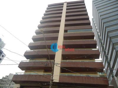Apartamento Grande 2 Dormitórios (1 Suite) Guilhermina Com Varanda Gourmet E 100 Metros Da Praia - Ap1035