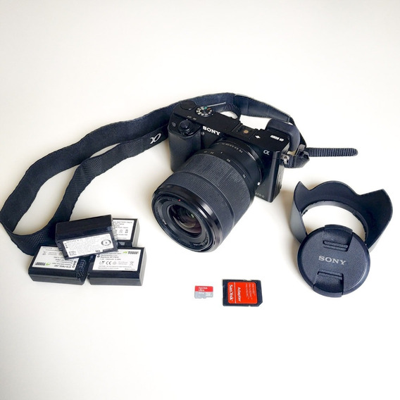 Kit Sony A6000 + Fe 28-70mm F/3.5-5.6 Oss + Acessórios