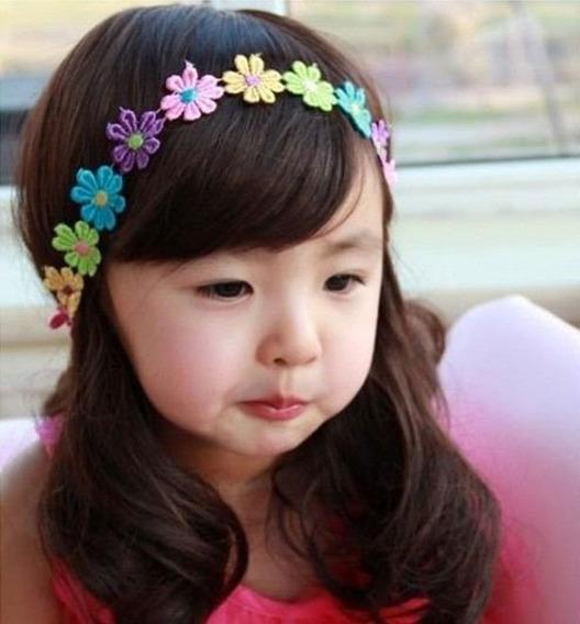 Bandita Mini Florecitas Bordadas Multicolor Para Niña Bebe