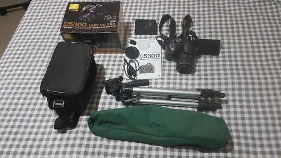 Nikon D5300 Com Lente 18-55 Vr Ii