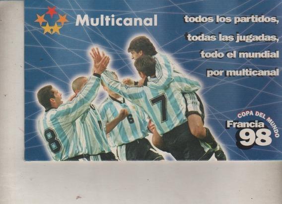 Fixture Mundial Francia 98 * Multicanal * Sin Uso
