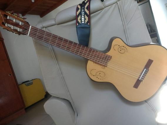 Guitarra Electroacustica Alpujarra 300 Kec Funda Y Correa