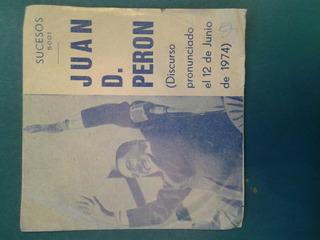 Antiguo Vinilo Disco Simple General Peron 1974