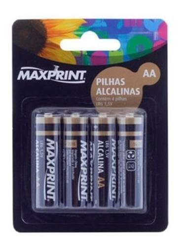 Pilha Alcalina Aa Maxprint Blister Com 4 Unidades 1,5 Volts