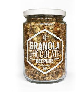 Granola Artesanal Con Chocolate Beepure Frasco 330g