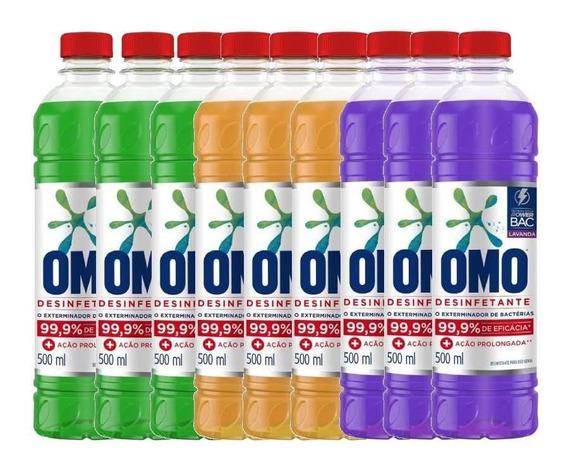 Omo Desinfetante Diversos 500ml - Kit Com 9