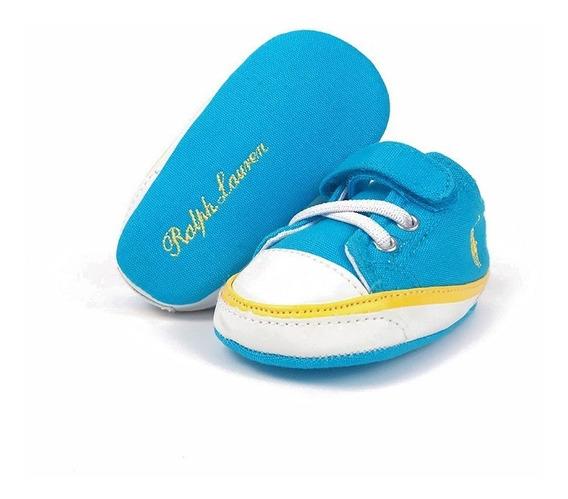 Tenis Polo Ralph Lauren Para Bebé Color Azul Cielo