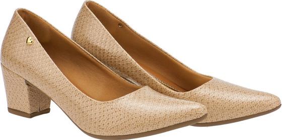 Sapato Feminino Scarpin Salto Baixo Grosso Nude | P02nu.scp