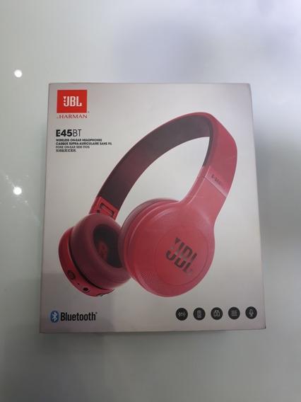 Fone Bluetooth Jbl E45bt Vermelho Pouco Usado