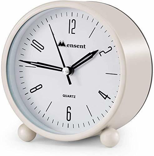 Reloj Despertador Mensent 4 Pulgadas Redondo Silencioso Ana