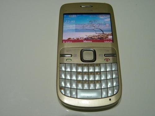 Nokia C3 00 Wifi Bluetooth 1 Chip Desbloqueado Dourado